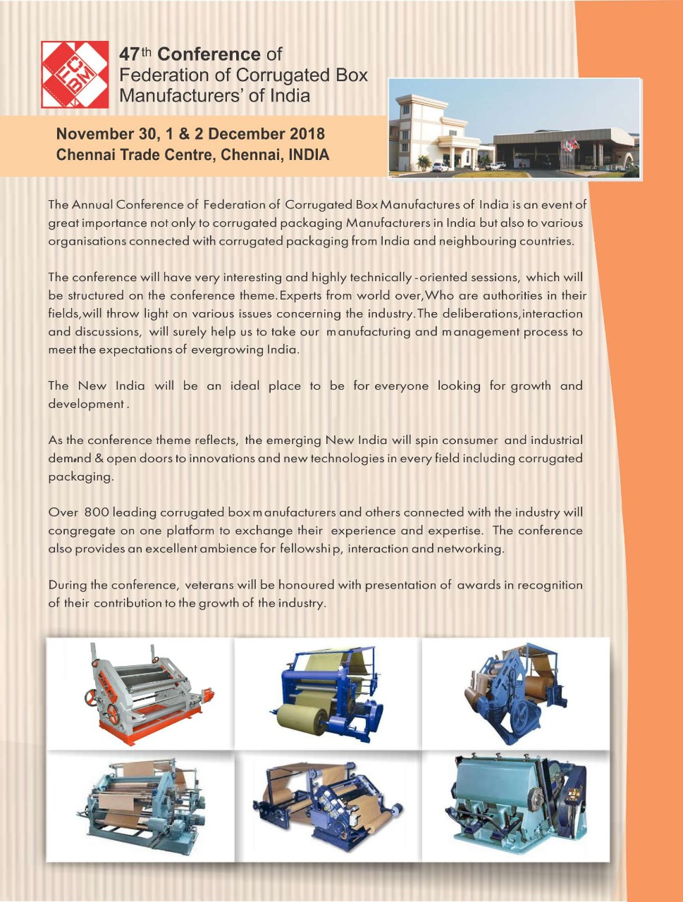 47th CONFERENCE OF FEDERTION OF CORRUGATED BOX MANUFATURESS OF INDIA